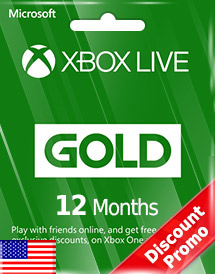 xbox live gold 12 months subscription us discount promo