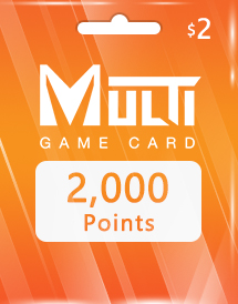 multi game card 2,000 points global