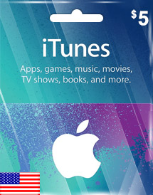 itunes usd5 gift card us