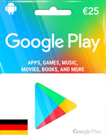 google play eur25 gift card de