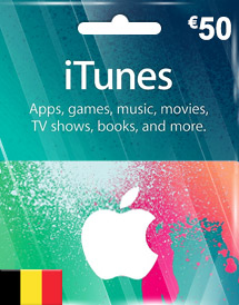 itunes be eur50 itunes gift card
