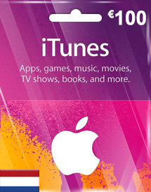 itunes eur100 gift card nl