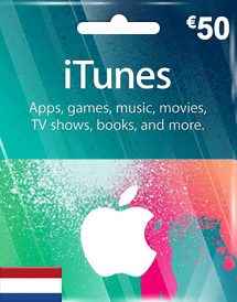 itunes eur50 gift card nl