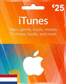 itunes eur25 gift card nl