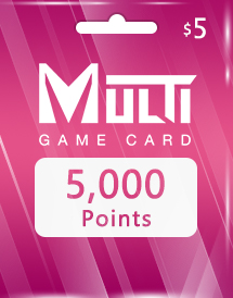 multi game card 5,000 points global