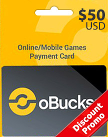 obucks card usd50 discount promo
