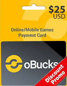 obucks card usd25 discount promo