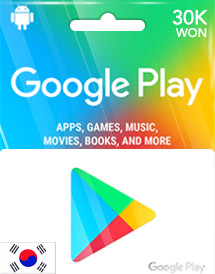 30,000won google play gift card kr