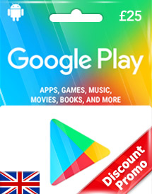 gbp25 google play gift card uk discount promo