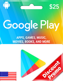 $25 google play gift card us discount promo