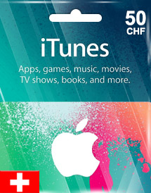itunes chf50 gift card ch switzerland
