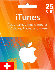 itunes chf25 gift card ch switzerland