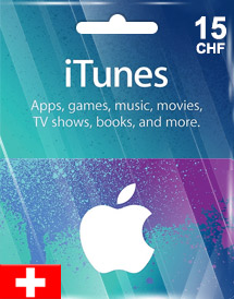 itunes chf15 gift card ch switzerland