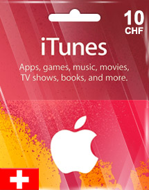 itunes chf10 gift card ch switzerland