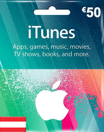 eur50 itunes gift card at