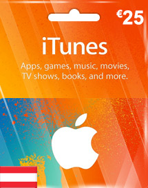 eur25 itunes gift card at