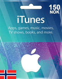 itunes nok150 gift card no