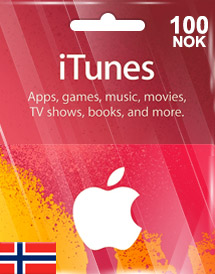 itunes nok100 gift card no