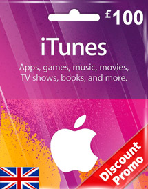 itunes gbp100 gift card uk discount promo