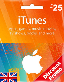 itunes gbp25 gift card uk discount promo