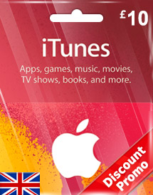 itunes gbp10 gift card uk discount promo