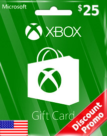 usd25 xbox live gift card us discount promo