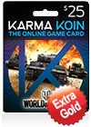 usd25 karma koin card global - world of tanks exclusive promo