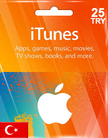 itunes tl25 gift card tr