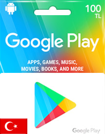 google play tl100 gift card tr