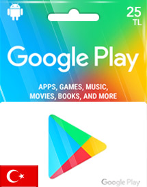 google play tl25 gift card tr