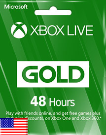 xbox live gold 48 hours subscription us