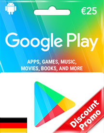 google play eur25 gift card de discount promo