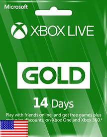 xbox live gold 14 days subscription us