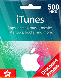 hkd500 itunes gift card hk discount promo