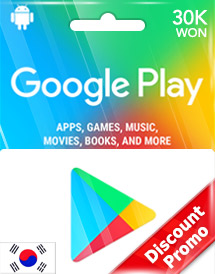 30,000won google play gift card kr discount promo
