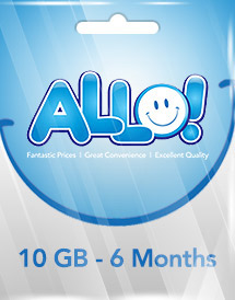 allo 6 months data - 10gb recharge data ksa