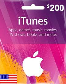 itunes usd200 gift card us