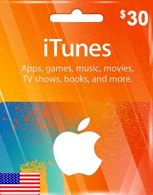 itunes usd30 gift card us