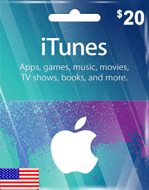 itunes usd20 gift card us