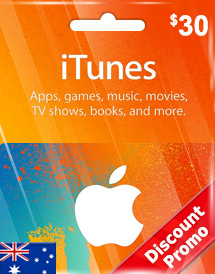 aud30 itunes gift card au discount promo