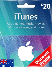 aud20 itunes gift card au discount promo