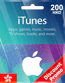 hkd200 itunes gift card hk discount promo