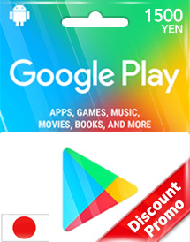 Cheap Google Play 1,500YEN Gift Card (JP) Discount Promo - OffGamers