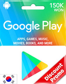 150,000won google play gift card kr discount promo