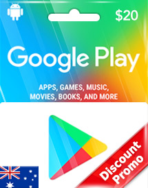 google play aud20 gift card au discount promo