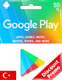 google play tl50 gift card tr discount promo