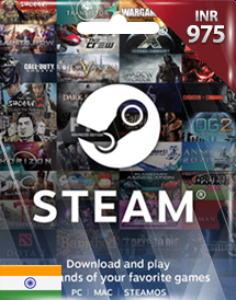 steam wallet code inr975 in