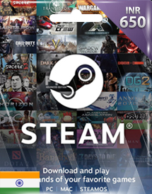 steam wallet code inr650 in
