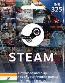 steam wallet code inr325 in
