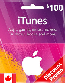 cad100 itunes gift card ca discount promo